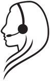 Hörlurar med mikrofonsymbol Royaltyfria Foton