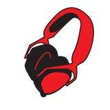 Hörlurar med mikrofonsymbol Royaltyfria Bilder