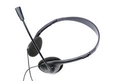 hörlurar mic Fotografering för Bildbyråer