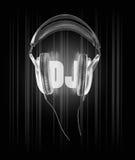 Hörlurardiscjockeymusik Arkivfoto
