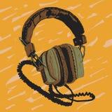 Hörlurarillustration stock illustrationer