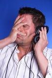 hörlurarman arkivfoton