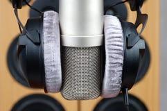 hörlurarmikrofon Arkivfoton