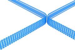 Hörn av blåttstaketet, perspektivsikt Royaltyfri Bild