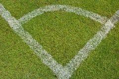 Hörn av ett fält för fotboll (fotboll) Royaltyfri Bild