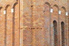 Hörn av forntida tegelstenbyggnad Royaltyfria Foton