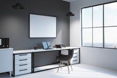 Hörn av modern workspace med datoren Royaltyfri Bild