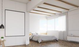 Hörn av sovrummet med två affischer och fönster vektor illustrationer