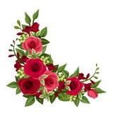 Hörn för röda rosor. royaltyfri illustrationer