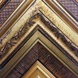 Hörn för ram för tappningstil staplade guld- Royaltyfri Bild
