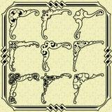 Hörn för tappningdesignbeståndsdelar Arkivbild