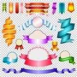 Hörn och band som isoleras på genomskinlig bakgrund, vektorillustration royaltyfri illustrationer