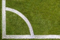 Hörn Topview för fotbollfält Royaltyfria Foton