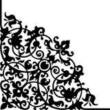 hörndesignen bläddrade vektorn royaltyfri illustrationer