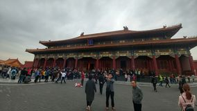 Hörnet av Forbiddenet City i kinesisk historisk arkitektur royaltyfria foton