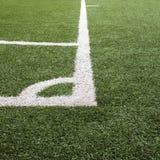 Hörnet fodrar på fotboll/det Futsal fältet Arkivbilder