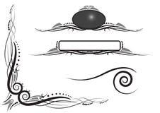 hörnpanelscrolls snurrar royaltyfri illustrationer