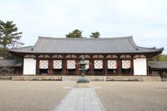 Hörsal av den Horyu jien i Nara Royaltyfri Bild
