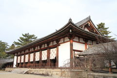 Hörsal av den Horyu jien i Nara Arkivfoto