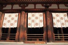 Hörsal av den Horyu jien i Nara Royaltyfri Foto