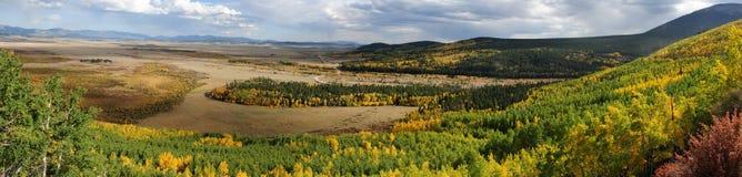 Höstöverblick av den södra Parkhandfatet Arkivbild
