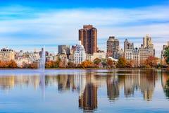 höst Central Park arkivbilder