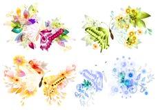 höst för fjädersommar för fyra säsonger vinter Royaltyfri Illustrationer