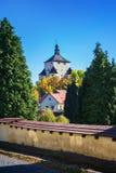 """Höst för ny slott†""""i Banska Stiavnica, Slovakien, UNESCO Royaltyfria Foton"""