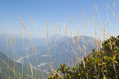 Höst i bergen Arkivbilder