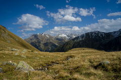 Höst i bergen Arhyz Arkivfoton