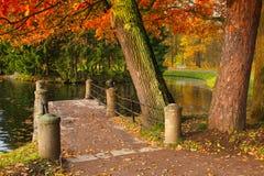 Höst i Catherine Park i Pushkin Royaltyfria Bilder