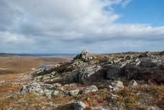 Höst i det finlandssvenska Laplandet Royaltyfri Bild