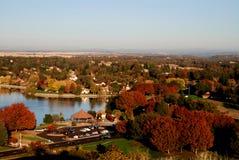 Höst i en liten nordliga Kalifornien stad Royaltyfria Bilder