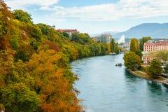 Höst i Genève Fotografering för Bildbyråer