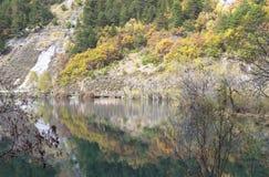 Höst i jiuzhaigouen, Kina Fotografering för Bildbyråer