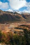 Höst i Patagonia del fuego tierra Arkivbilder