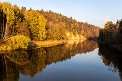 Höst i Sigulda, Lettland Royaltyfria Bilder