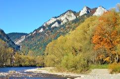 höst i skog- och för berg tre kronor Arkivbilder
