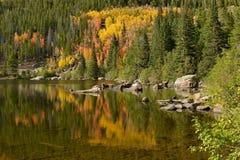Höst lake Fotografering för Bildbyråer