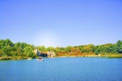 Höst lakelandskap Royaltyfri Fotografi