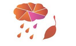 Höst Moln, regn och blad Royaltyfri Fotografi