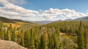 Höst nymf sjö, Rocky Mountain National Park, Co Royaltyfria Bilder