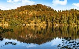 Höst på Alpsee Royaltyfri Fotografi