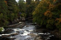 Höst på Invermoriston, Loch Ness (Skottland) Royaltyfria Foton