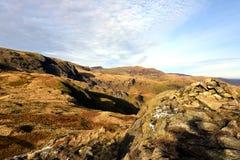 Höst på lilla Hart Crag arkivbilder