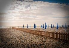 Höst på stranden Royaltyfria Foton