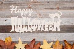 Höst Pumpor på träbakgrund lyckliga halloween Royaltyfri Foto