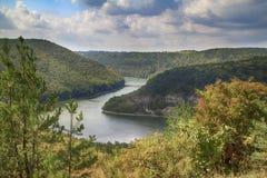 höst River Valley Fotografering för Bildbyråer