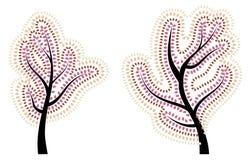 höst stylized tree Arkivfoto