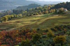 höst tuscany Fotografering för Bildbyråer